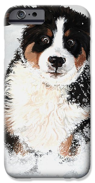 Crazy for Snow iPhone Case by Liane Weyers