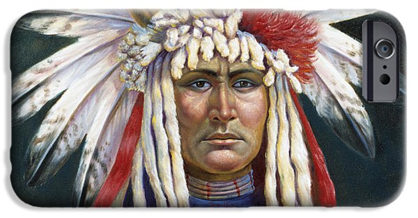 Nebraska iPhone Cases - Crazy Horse iPhone Case by Gregory Perillo