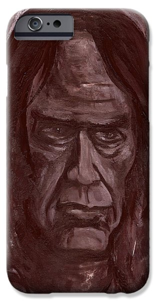 Neil Young Paintings iPhone Cases - Crazy Horse iPhone Case by Jon Griffin