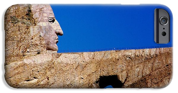 Stone Carving iPhone Cases - Crazy Horse iPhone Case by Karen Wiles