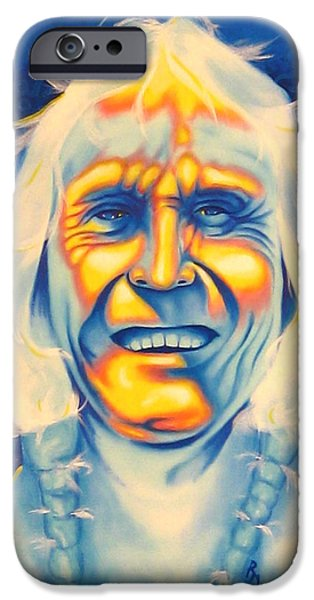 Airbrush iPhone Cases - Crazy Man iPhone Case by Robert Martinez