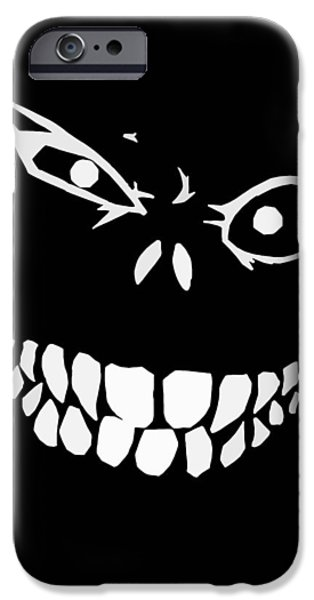 Teeth iPhone Cases - Crazy Monster Grin iPhone Case by Nicklas Gustafsson