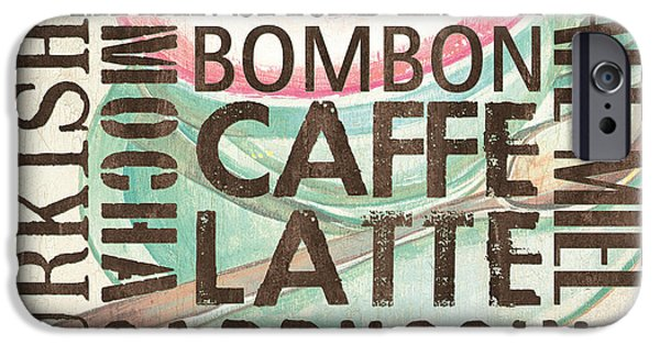 Espresso Paintings iPhone Cases - Cream Coffee of the Day 2 iPhone Case by Debbie DeWitt