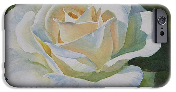 Rose iPhone Cases - Creamy Rose iPhone Case by Sharon Freeman