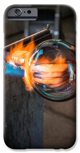 Asheville iPhone Cases - Creation at the Glass Blowers Bench iPhone Case by Rob Travis