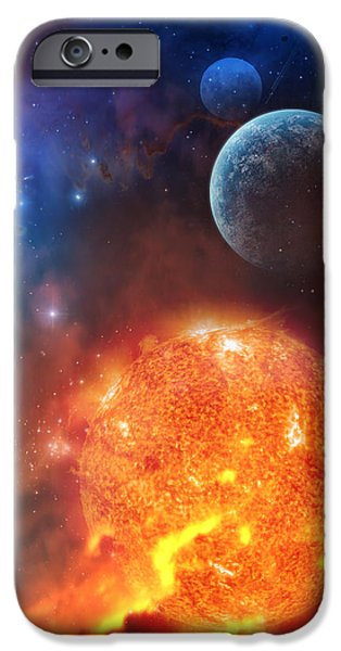 Science Mixed Media iPhone Cases - Creation iPhone Case by Philip Straub