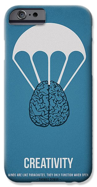 Creative Drawings iPhone Cases - Creativity iPhone Case by Aged Pixel