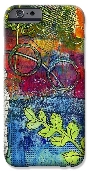 Printmaking iPhone Cases - CREATIVITY is the Best Therapy iPhone Case by Angela L Walker