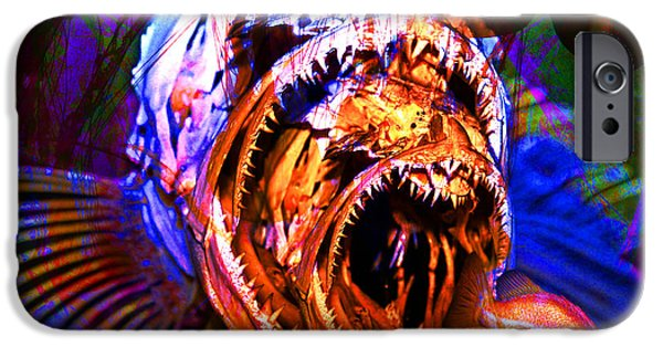Jelly Fish iPhone Cases - Creatures Of The Deep - Fear No Fish 5D24799 square iPhone Case by Wingsdomain Art and Photography