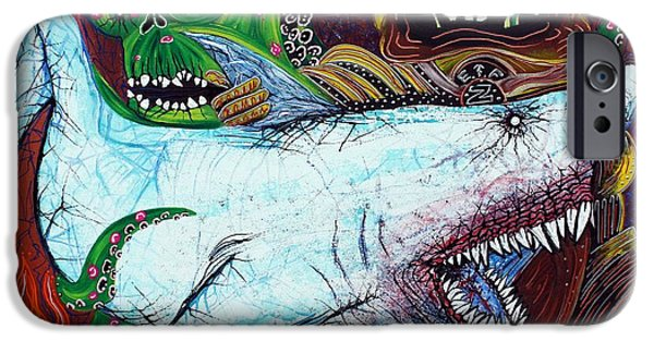 Shark iPhone Cases - Creatures Of The Deep iPhone Case by Laura Barbosa