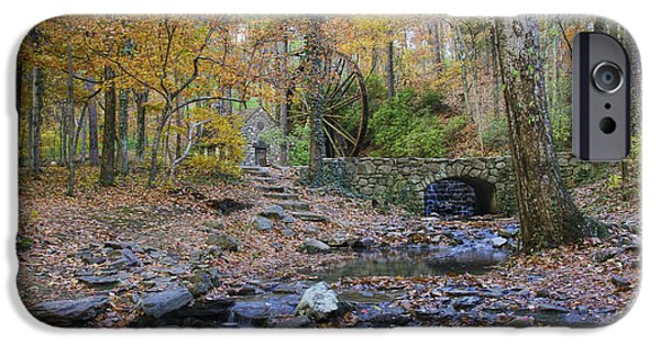 Grist Mill iPhone Cases - Creek at the Old Mill iPhone Case by Barbara Bowen