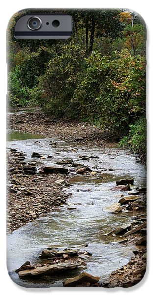 Creek Pyrography iPhone Cases - Creek Bed iPhone Case by William Roush