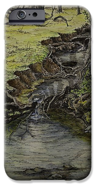 Creek  iPhone Case by Janet Felts