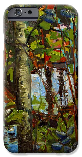 Thoreau iPhone Cases - Creek Walking iPhone Case by Charlie Spear