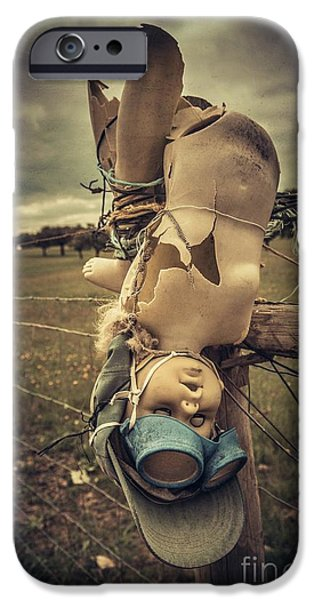 Abuse iPhone Cases - Creepy Broken Doll iPhone Case by Carlos Caetano