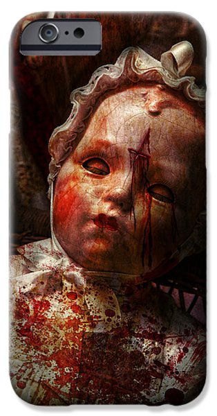 Creepy - Doll - It's best to let them sleep  iPhone Case by Mike Savad