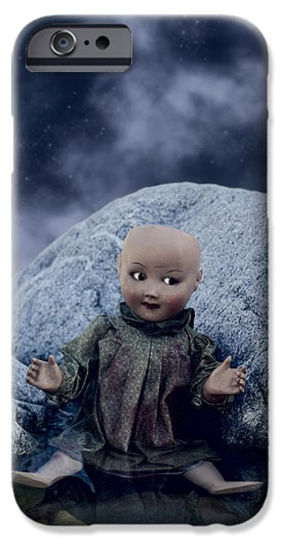 Creepy iPhone Cases - Creepy Doll iPhone Case by Joana Kruse