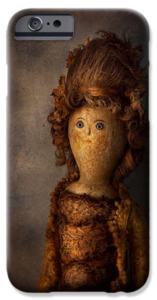 Old Blue Eyes iPhone Cases - Creepy - Doll - Matilda iPhone Case by Mike Savad