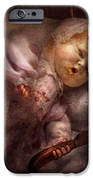 Creepy - Doll - Night Terrors iPhone Case by Mike Savad