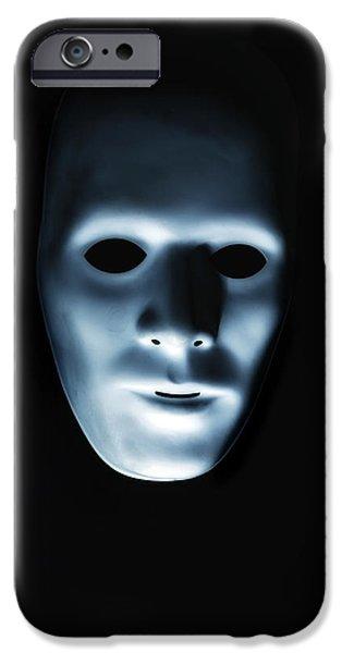 Creepy iPhone Cases - Creepy Mask iPhone Case by Joana Kruse