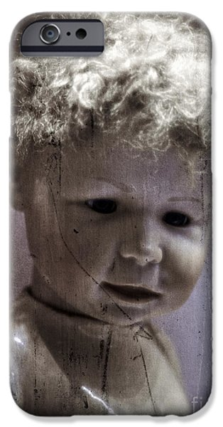 Dolls iPhone Cases - Creepy Old Doll iPhone Case by Edward Fielding