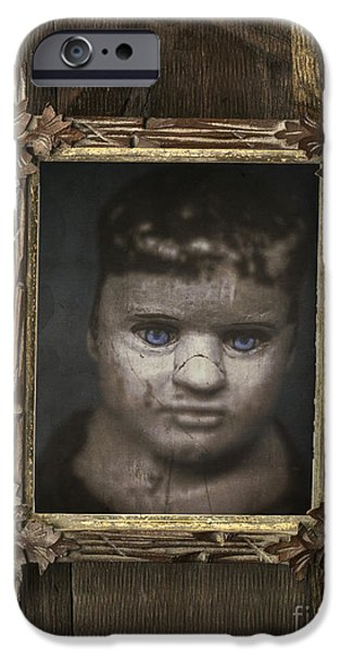 Child iPhone Cases - Creepy Relative iPhone Case by Edward Fielding