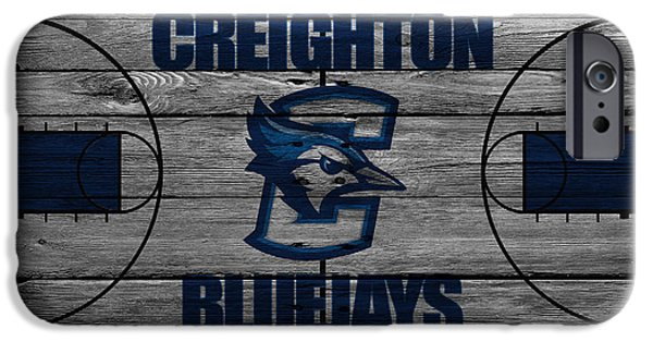 Dunk iPhone Cases - Creighton Bluejays iPhone Case by Joe Hamilton