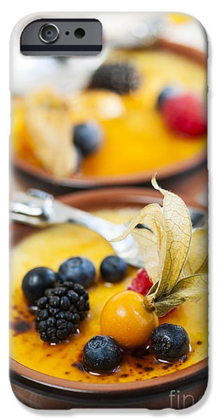 Creme brulee dessert iPhone Case by Elena Elisseeva