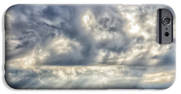 Sun Breaking Through Clouds iPhone Cases - Crepuscular Rays iPhone Case by Thomas R Fletcher
