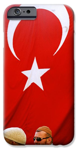 Balat iPhone Cases - Crescent and Star iPhone Case by Shaun Higson