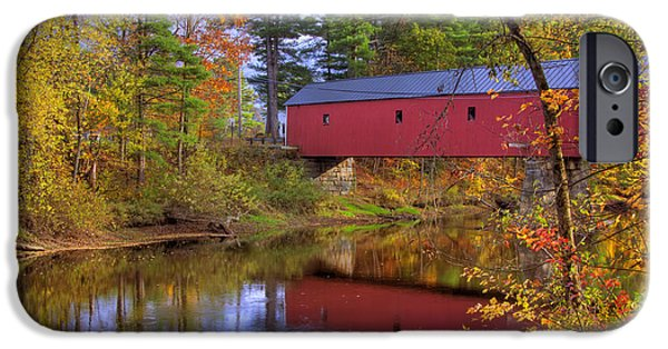 Old North Bridge iPhone Cases - Cresson Covered Bridge 3 iPhone Case by Joann Vitali