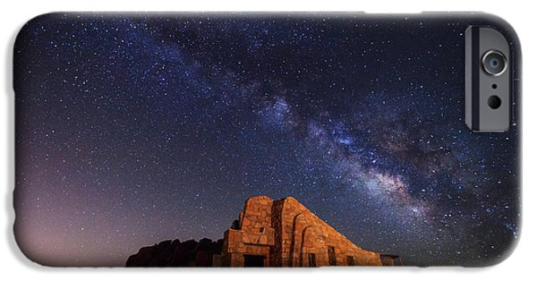 Denver Colorado iPhone Cases - Crest House Milky Way iPhone Case by Darren  White