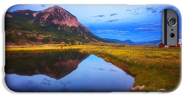 Town iPhone Cases - Crested Butte Morning iPhone Case by Darren  White
