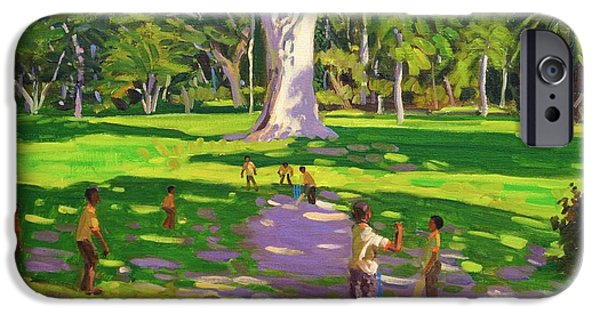 Cricket iPhone Cases - Cricket match St George Granada iPhone Case by Andrew Macara