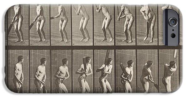 Cricket iPhone Cases - Cricketer iPhone Case by Eadweard Muybridge