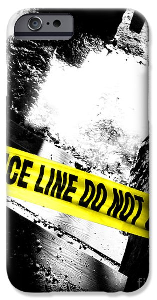 Crime Scene iPhone Case by Olivier Le Queinec