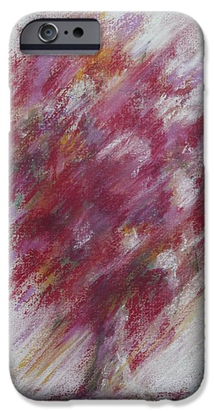 Florals Pastels iPhone Cases - Crimson Bouquet iPhone Case by Rachel Christine Nowicki
