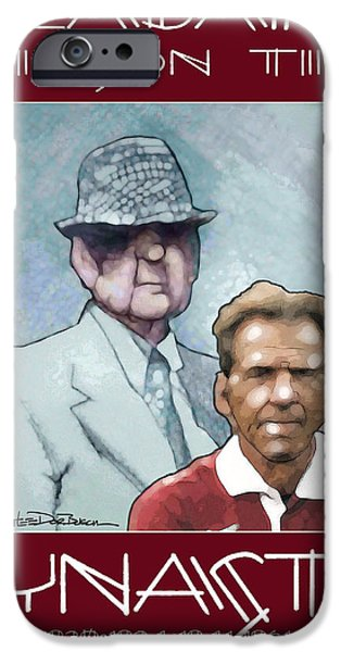 Bryant Drawings iPhone Cases - Crimson Dynasty iPhone Case by Jerrett Dornbusch