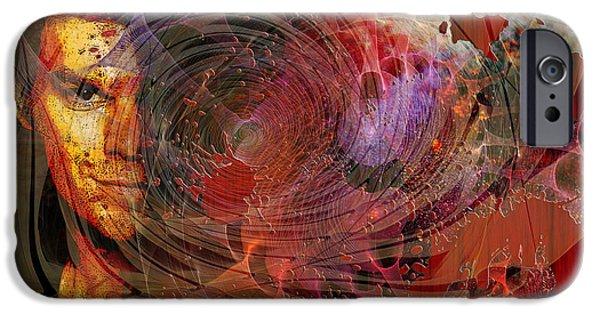 Michael Mixed Media iPhone Cases - Crimson Requiem iPhone Case by John Robert Beck