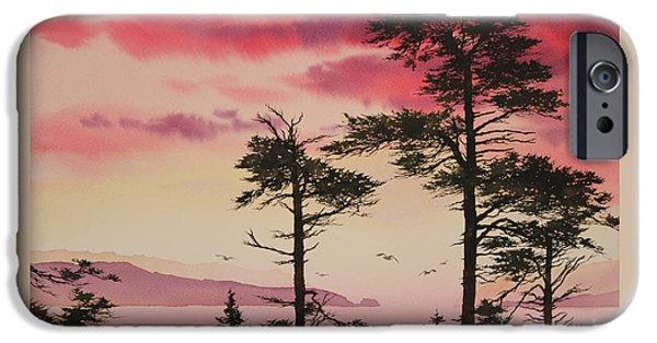 Sunset Framed Prints iPhone Cases - Crimson Sunset Splendor iPhone Case by James Williamson
