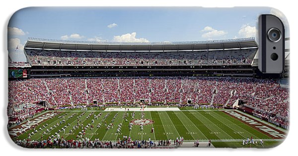 University Of Alabama iPhone Cases - Crimson Tide A-Day Football Game at University of Alabama  iPhone Case by Carol M Highsmith