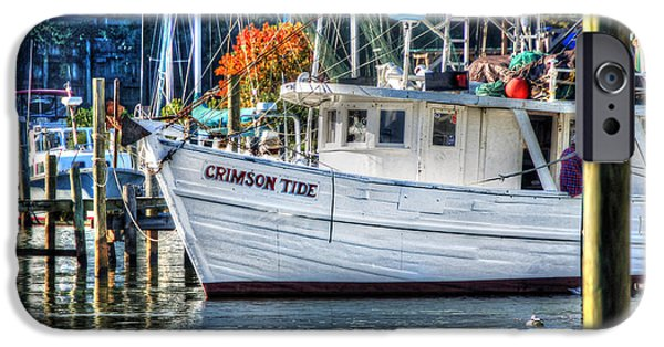 Micdesigns iPhone Cases - Crimson Tide in Harbor iPhone Case by Michael Thomas