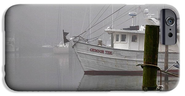 Micdesigns iPhone Cases - Crimson Tide in the Mist iPhone Case by Michael Thomas