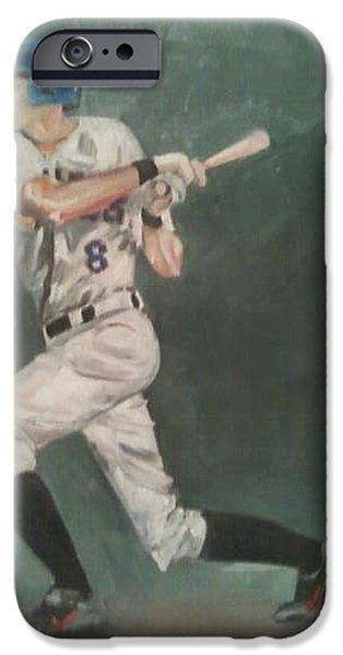 Baseball Uniform Paintings iPhone Cases - Cris Stanton SF Giants iPhone Case by Rosemary Kavanagh
