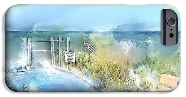 Building iPhone Cases - Crisp Point Boardwalk Michigan iPhone Case by Evie Carrier