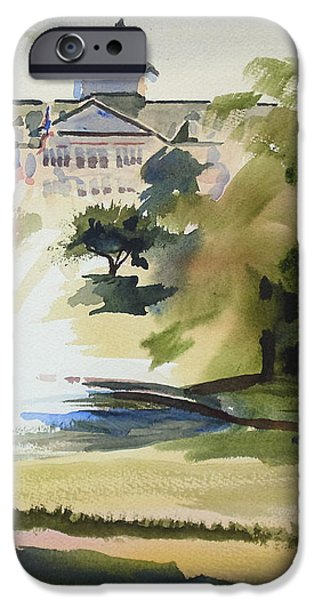 Crisp Water Fountain at the Baptist Home III iPhone Case by Kip DeVore