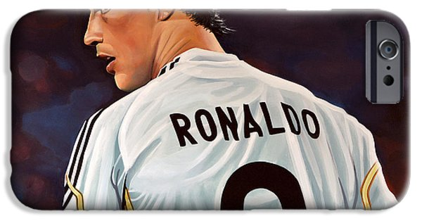 Sportsman iPhone Cases - Cristiano Ronaldo iPhone Case by Paul Meijering