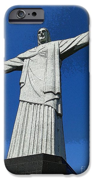 Religious iPhone Cases - Cristo Redentor  iPhone Case by Barbie Corbett-Newmin