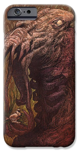 Strange iPhone Cases - CroakJaw  iPhone Case by Ethan Harris