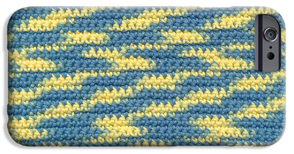Texture Tapestries - Textiles iPhone Cases - Crochet made with variegated yarn iPhone Case by Kerstin Ivarsson